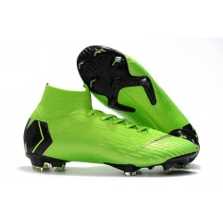 New Nike Mercurial Superfly 6 Elite DF FG Cleat - Green Black