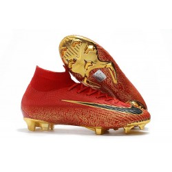 New Nike Mercurial Superfly 6 Elite DF FG Cleat - Red Golden