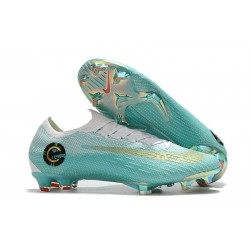 New World Cup 2018 Nike Mercurial Vapor XII FG Cleats - White Blue Golden