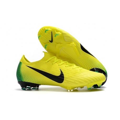 Nike Mercurial Vapor 12 Elite FG Soccer Boot Yellow Black