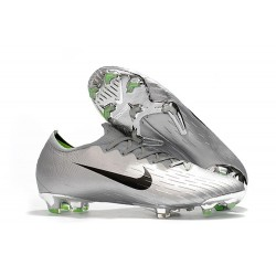New World Cup 2018 Nike Mercurial Vapor XII FG Cleats - Silver Black