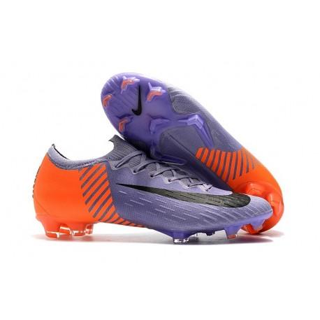 Nike Mercurial Vapor 12 Elite FG Soccer Boot Purple Orange Black