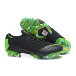 Nike Mercurial Vapor 12 Elite FG Soccer Boot Black Green