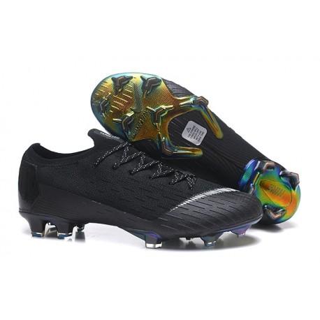 Nike Mercurial Vapor 12 Elite FG Soccer Boot Black White