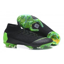 New Nike Mercurial Superfly 6 Elite DF FG Cleat - Black Green
