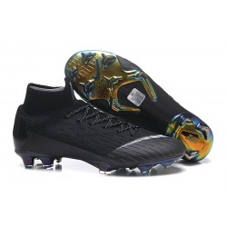 New Nike Mercurial Superfly 6 Elite DF FG Cleat - Black White