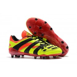 Adidas Predator Accelerator FG Firm Ground Boots - Electricity Red Black