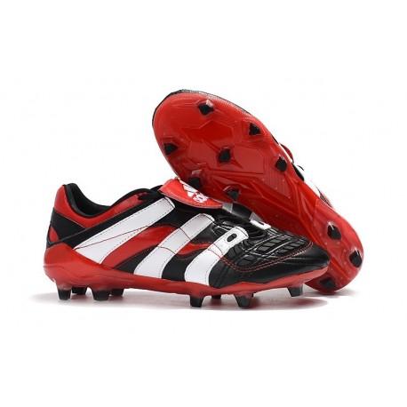 Adidas Predator Accelerator FG Firm Ground Boots - Black Red White