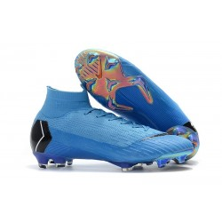 New Nike Mercurial Superfly 6 Elite DF FG Cleat - Blue Black