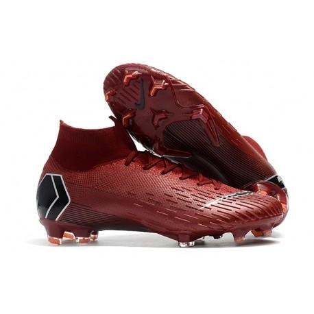 New Nike Mercurial Superfly 6 Elite DF FG Cleat - Team Red Black