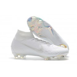 New Nike Mercurial Superfly 6 Elite DF FG Cleat - Full White