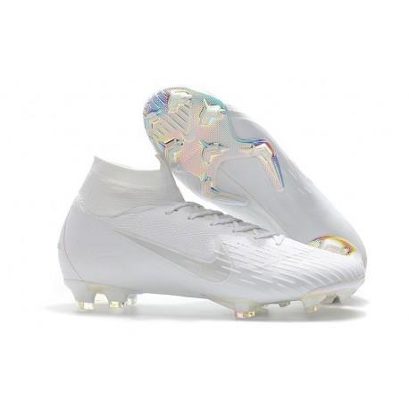 New Nike Mercurial Superfly 6 Elite DF FG Cleat - Full White