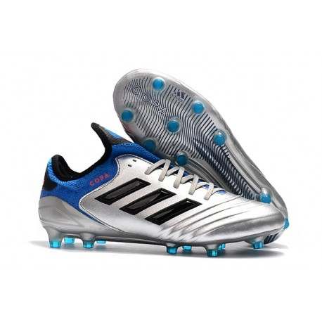 adidas Men's Copa 18.1 FG Soccer Cleats Silver Blue Black