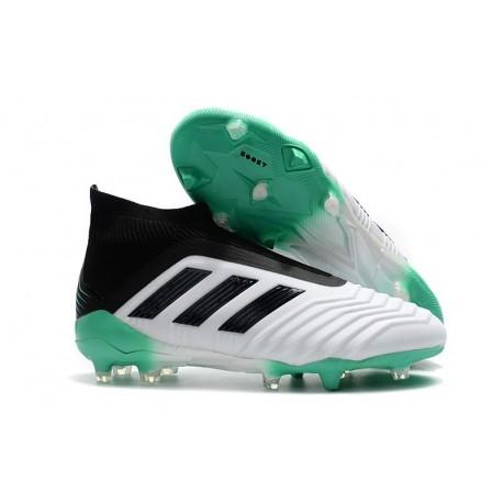 adidas Men's Predator 18+ FG Soccer Boots White Green Black