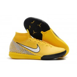 Neymar Yellow White Nike Mercurial SuperflyX 6 Elite IC Futsal
