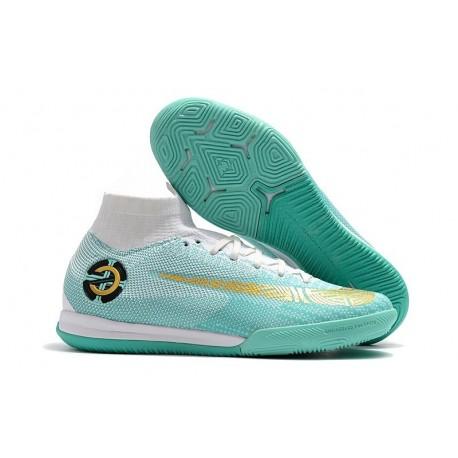 Ronaldo Blue White Nike Mercurial SuperflyX 6 Elite IC Futsal