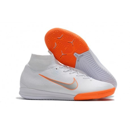 Nike Mercurial SuperflyX 6 Elite IC Futsal White Orange