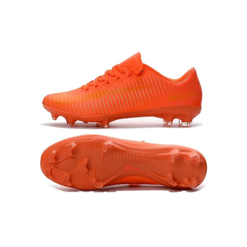 Nike Mercurial Vapor 11 FG ACC Mens Soccer Boots All Orange c37fa7e14