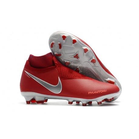 Nike Phantom Vision Elite DF FG Boots Red Silver