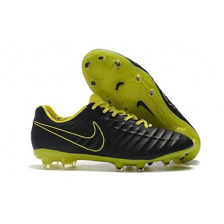 Nike Tiempo Legend VII FG Firm Ground Cleats - Black Volt
