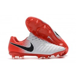 Nike Tiempo Legend VII FG Firm Ground Cleats - White Red