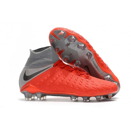 80eebb117 Nike Hypervenom Phantom III FG ACC Boot Red Grey