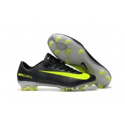 Nike Mercurial Vapor 11 CR7 FG ACC Mens Soccer Boots Black Yellow