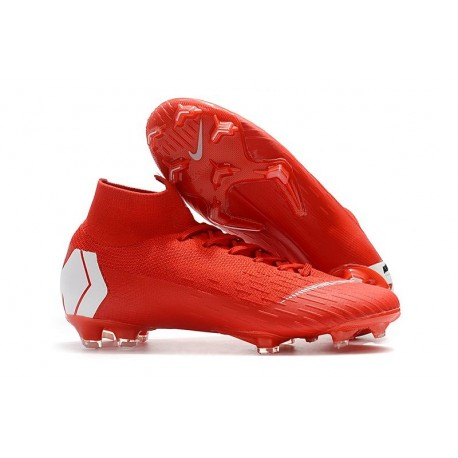 Nike Mercurial Superfly VI Elite Dynamic Fit FG - Red White