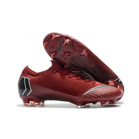 Nike Mercurial Vapor XII Elite FG Firm Ground Cleats - Red Black