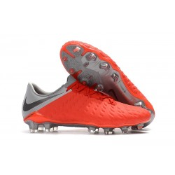 Nike Hypervenom Phantom 3 FG Firm Ground Cleats - Crimson Gray