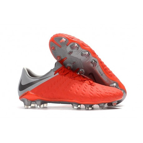 Nike Hypervenom Phantom 3 FG Firm Ground Cleats - Crimson Gray
