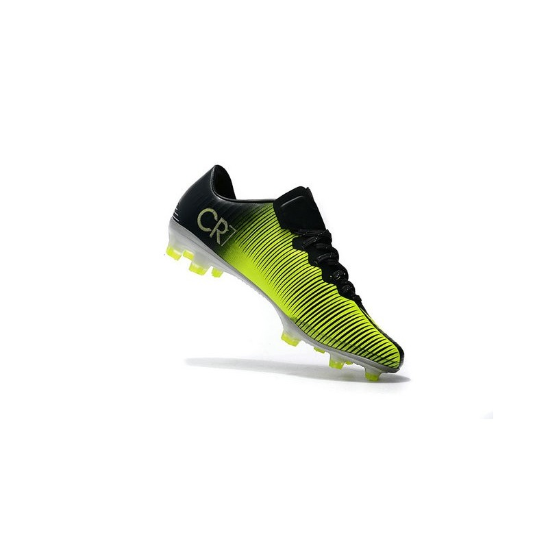 lowest price 93e15 b8bea Nike Mercurial Vapor 11 CR7 FG ACC Mens Soccer Boots Black Yellow