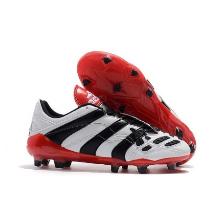 Adidas Predator Accelerator FG Firm Ground Boots - White Red Black