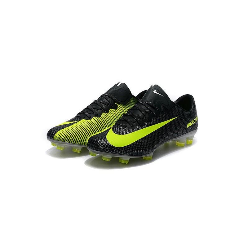 90068d208 Nike Mercurial Vapor 11 CR7 FG ACC Mens Soccer Boots Black Yellow