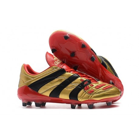 Adidas Predator Accelerator FG Firm Ground Boots - Gold Red Black