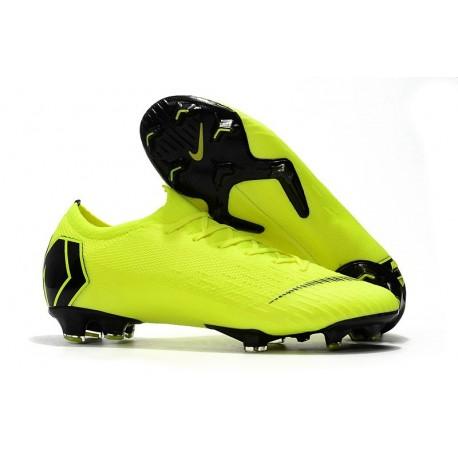 Nike Mercurial Vapor XII Elite FG Firm Ground Cleats - Volt Black