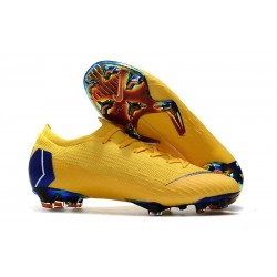 Nike Mercurial Vapor XII Elite FG Firm Ground Cleats - Yellow Blue