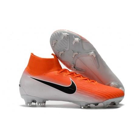 Nike Mercurial Superfly VI Elite Dynamic Fit FG - Orange White Black