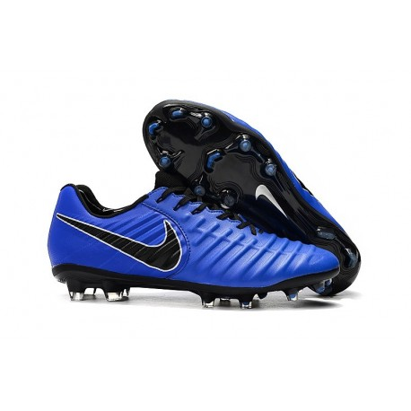 Nike Tiempo Legend 7 FG ACC New Soccer Cleat - Blue Black