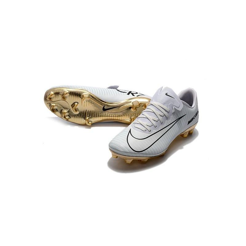 bed3d587c Nike Mercurial Vapor 11 CR7 Vitórias FG ACC Mens Soccer Boots White Gold