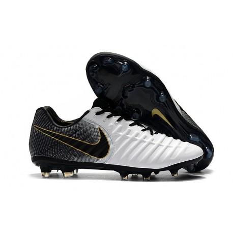 Nike Tiempo Legend 7 FG ACC New Soccer Cleat - White Black Gold