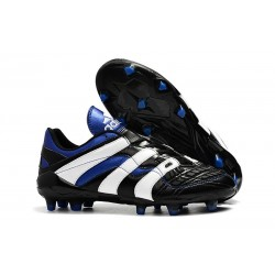 Adidas Predator Accelerator FG Firm Ground Boots - Black White Blue