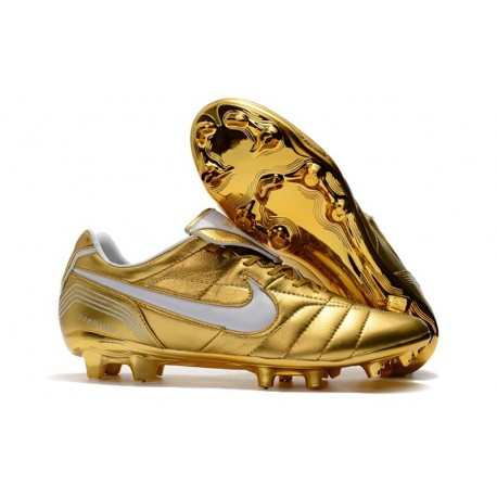 Nike Tiempo Legend 7 R10 FG ACC New Soccer Cleat - Golden White