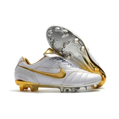 separation shoes 70a48 b6c01 Nike Tiempo Legend 7 R10 FG ACC New Soccer Cleat - White Golden
