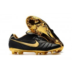 Nike Tiempo Legend 7 R10 FG ACC New Soccer Cleat - Black Golden