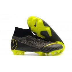 Nike Mercurial Superfly VI Elite Dynamic Fit FG - Black Yellow Gray