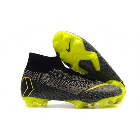 Nike Mercurial Superfly VI Elite Dynamic Fit FG - Black Yellow Gray