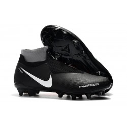 Nike Mens Phantom Vision Elite DF FG Soccer Cleat - Black Orange White
