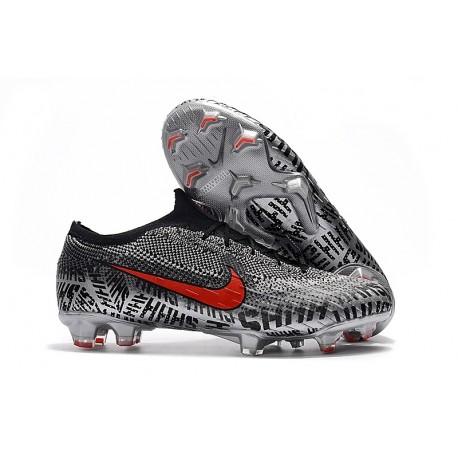 Nike Mercurial Vapor XII Elite FG Neymar Cleats - Black Red