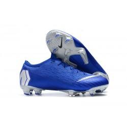 Mens Nike Mercurial Vapor 12 FG Soccer Boots - Blue Silver